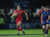29th September 2017, RDS Arena, Dublin, Ireland; Guinness Pro14 Rugby, Leinster Rugby versus Edinburgh; Jason Tovey (Edinburgh) makes a break after intercepting a pass