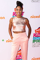 WESTWOOD, LOS ANGELES, CA, USA - JULY 17: Queen Harrison at the Nickelodeon Kids' Choice Sports Awards 2014 held at UCLA's Pauley Pavilion on July 17, 2014 in Westwood, Los Angeles, California, United States. (Photo by Xavier Collin/Celebrity Monitor)