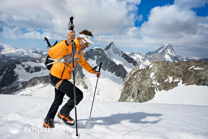 Peak 41 of Ueli Steck's 82 Summit project. The Zinalrothorn above Zermatt marked the halfway point of his goal of all 82 4000 meter peaks done entirely under his own power.