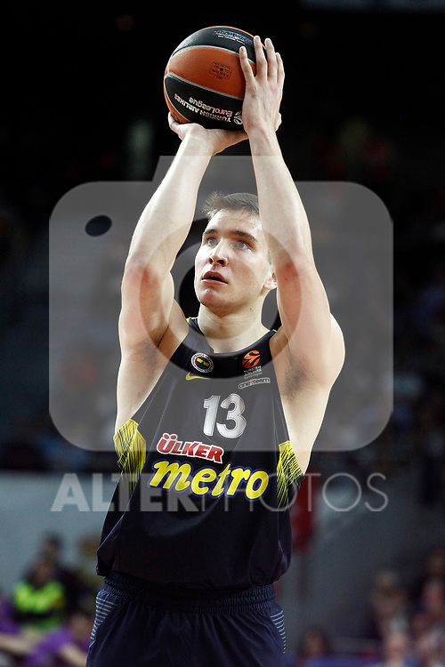 Fenerbahce Istambul's Bogdan Bogdanovic during Euroleague, Regular Season, Round 29 match. March 31, 2017. (ALTERPHOTOS/Acero)