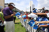 Phil Mickelson (USA) signs autographs after finishing his round during Sunday's Final Round of the rain shortened 2011 Barclays Singapore Open, Singapore, 13th November 2011 (Photo Eoin Clarke/www.golffile.ie)