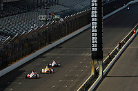 Ryan Briscoe (#2), Helio Castroneves (#3) and Will Power (#12)