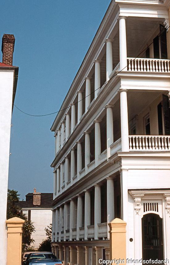 "Charleston: Charleston House. ""Piazzas""--porches.  Photo '78."