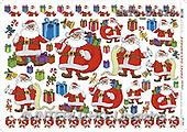 Alfredo, CHRISTMAS SANTA, SNOWMAN, decoupage, paintings(BRTOD1323,#X#,#DP#) Weihnachten, Navidad, illustrations, pinturas
