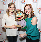 """Anika Larson and Kerri Brackin attend the 'Avenue Q"""" 13th Anniversary and 3,QQQ Performance with Bar Mitzvah Party at the New World Stages on January 12, 2017 in New York City."""
