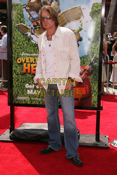 """BILLY RAY CYRUS.""""Over The Hedge"""" Los Angeles Premiere held at the Mann Village Theater, Westwood, California, USA..April 30th, 2006.Photo: Russ Elliot/AdMedia/Capital Pictures.Ref: RE/ADM.full length jeans denim white top.www.capitalpictures.com.sales@capitalpictures.com.© Capital Pictures."""