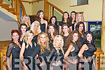 Miss Universe Kerry was held at the Mount Brandon hotel,Tralee last Saturday night and the competitors were(front)L-R Landa Dislere,Ali Healy,Dawn Lynch,Amy Farrell,Charity Pedersen&Joanne Egan(2nd row)L-R Laura Moore,Anita O'Connell,Briana Kelly,Naomi O'Shea&Sinead O'Reilly(back)L-R Karen O'Leary,Blathna O'Callaghan,Olga Ofiara,Karen O'Regan,Charlotte Gurney&Sarah Holden.