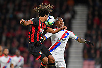 Nathan Ake of AFC Bournemouth and Jordan Ayew of Crystal Palace vie for the ball during AFC Bournemouth vs Crystal Palace, Premier League Football at the Vitality Stadium on 1st October 2018