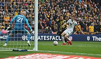 Watford's Gerard Deulofeu scores his side's third goal <br /> <br /> Photographer Rob Newell/CameraSport<br /> <br /> Emirates FA Cup Semi-Final  - Watford v Wolverhampton Wanderers - Sunday 7th April 2019 - Wembley Stadium - London<br />  <br /> World Copyright © 2019 CameraSport. All rights reserved. 43 Linden Ave. Countesthorpe. Leicester. England. LE8 5PG - Tel: +44 (0) 116 277 4147 - admin@camerasport.com - www.camerasport.com