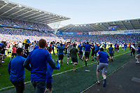 Cardiff fans invade the pitch at full time of the Sky Bet Championship match between Cardiff City and Reading at the Cardiff City Stadium, Cardiff, Wales on 6 May 2018. Photo by Mark  Hawkins / PRiME Media Images.