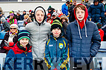 Sean O'Connell, Ben Sheehan, Tadgh O'Connell and Jack Sheehan, Tarbert, green and gold supporters at the Allianz Football League Kerry v Galway, at Austin Park, Tralee, on Sunday last.