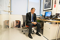 "Anthony Amore is the Directory of Security and Chief Investigator at the Isabella Stewart Gardner Museum in Boston, Mass., USA, seen here in his office on Tues., Dec. 5, 2017. Part of Amore's ongoing work is the investigation into the 1990 theft of 13 pieces from the museum: 10 paintings, 2 objects, and 1 etching. Among the paintings stolen were works by Rembrandt, Vermeer, Degas, and Manet. At left, on the ground, is a reproduction of Manet's ""Chez Tortoni."" At right, hanging on the wall, is a reproduction of Vermeer's ""The Concert."" Both works of art were stolen in the heist."