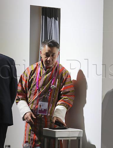 26.02.2016. Zurich, Switzerland.  Vertreter von BHUTAN in tradi9tional dress durng the voting for the new FIFA President