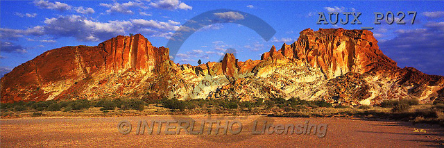 Dr. Xiong, LANDSCAPES, panoramic, photos, Rainbow Valley, Australia(AUJXP027,#L#)