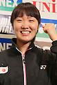 Eriko Hirose (JPN), September 20, 2011 - Badminton : Eriko Hirose attends press conference in Tokyo, Japan, regarding the Yonex poen Japan 2011 Badminton Championships 2011. (Photo by Yusuke Nakanishi/AFLO SPORT) [1090]