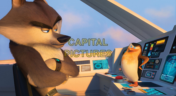 Agent Classified (voiced by Benedict Cumberbatch), Skipper (voiced by Tom McGrath)<br /> in Penguins of Madagascar (2014) <br /> *Filmstill - Editorial Use Only*<br /> CAP/NFS<br /> Image supplied by Capital Pictures