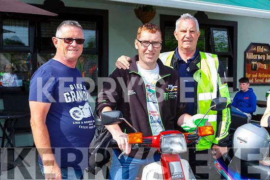 Tim Fleming, Maurice McAulliffe and Jack Leonard  at the Honda 50 ron in aid of the Irish Kidney association in Killarney on Sunday
