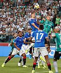 22.08.2019 Legia Warsaw v Rangers: Nikola Katic and Artur Jedrejczyk