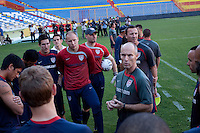 Bob Bradley and the US National Team. Stadium Training prior to FIFA World Cup qualifiers USA vs El Salvador at Estadio Cuscatlán Stadium  on March 27, 2009.