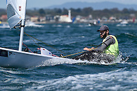 Laser/ Pavlos KONTIDES (CYP)<br /> ISAF Sailing World Cup Final - Melbourne<br /> St Kilda sailing precinct, Victoria<br /> Port Phillip Bay Wednesday 7 Dec 2016<br /> &copy; Sport the library / Jeff Crow