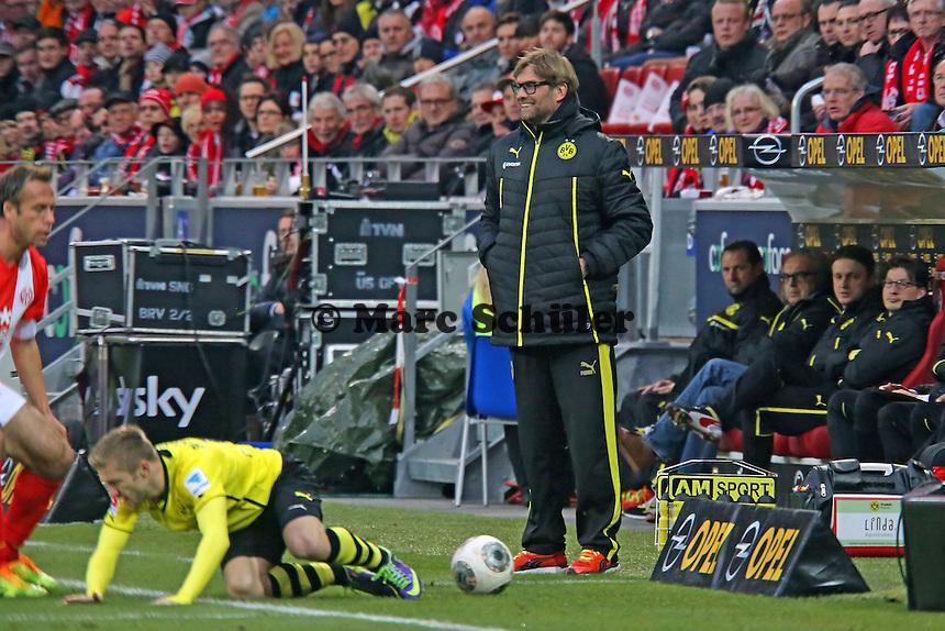 Trainer Jürgen Klopp (Mainz) - 1. FSV Mainz 05 vs. Borussia Dortmund, Coface Arena, 14. Spieltag
