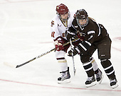Melissa Bizzari (BC - 4), Victoria Smith (Brown - 7) - The Boston College Eagles defeated the visiting Brown University Bears 5-2 on Sunday, October 24, 2010, at Conte Forum in Chestnut Hill, Massachusetts.