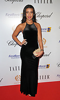 Rikaya Tagoe at the Lux Afrique gala dinner, Claridge's Hotel, Brook Street, London, England, UK, on Sunday 01 October 2017.<br /> CAP/CAN<br /> &copy;CAN/Capital Pictures