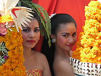 women  representing their village and region in independance day parade, August 18th, Singaraja, North Bali, archipelago Indonesia, 2009