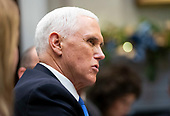United States Vice President Mike Pence speaks during a roundtable on small business and red tape reduction with US President Donald J. Trump, at the White House in Washington, DC on Friday, December 6, 2019. <br /> Credit: Kevin Dietsch / Pool via CNP