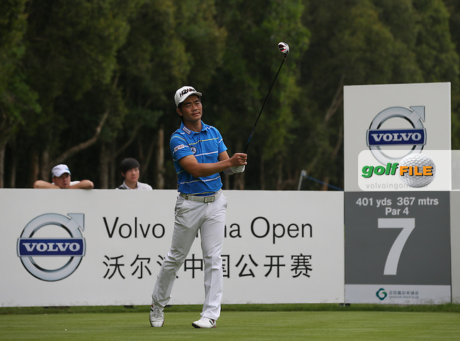 Leading Chinese golfer Liang Wen-Chong during Round Three of the 2014 Volvo China Open, Genzon Golf Club, Shenzhen, China. Picture:  David Lloyd / www.golffile.ie