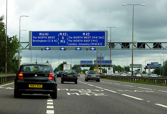 A 1217488 M 42 and M6 Motorways Merging and Average Speed Check