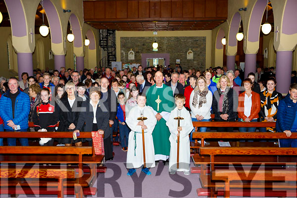 Fr Pat O'Donnell at the congregation at the 80th anniversary of the Church of the Holy Rosary in Gneeveguilla  on Snday