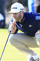 Dustin Johnson (USA) on the 1st green during Thursday's Round 1 of the 2018 AT&amp;T Pebble Beach Pro-Am, held over 3 courses Pebble Beach, Spyglass Hill and Monterey, California, USA. 8th February 2018.<br /> Picture: Eoin Clarke | Golffile<br /> <br /> <br /> All photos usage must carry mandatory copyright credit (&copy; Golffile | Eoin Clarke)