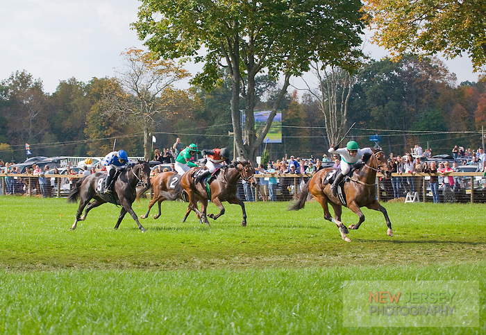 Steeplechase Horse Racing, Far Hills Race Meeting, Moorland Farms, Far Hills, New Jersey