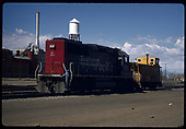 3/4 left front view of SP GP60 #9767 with D&amp;RGW caboose #014xx.  &quot;SP's GP60&quot;.<br /> Southern Pacific  Alamosa, CO  Taken by Berkstresser, George - 5/9/1997