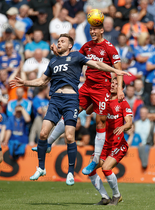 04.08.2019 Kilmarnock v Rangers: Stephen O'Donnell and Nikola Katic