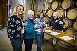Amador Vintner's Behind the Cellar Door event..Happy red wine library tasters at TKC Vineyards