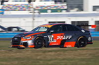 IMSA Continental Tire SportsCar Challenge<br /> December Test<br /> Daytona International Speedway<br /> Daytona Beach, FL USA<br /> Wednesday, 06 December, 2017<br /> 74, Audi, Audi RS3 LMS TCR, TCR, Aurora Straus, Nick Longhi<br /> World Copyright: Brian Cleary<br /> LAT Images