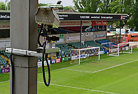 A camera used for the goal-line technology at Lincoln City's Sincil Bank Stadium<br /> <br /> Photographer Chris Vaughan/CameraSport<br /> <br /> The EFL Sky Bet League Two Play Off First Leg - Lincoln City v Exeter City - Saturday 12th May 2018 - Sincil Bank - Lincoln<br /> <br /> World Copyright &copy; 2018 CameraSport. All rights reserved. 43 Linden Ave. Countesthorpe. Leicester. England. LE8 5PG - Tel: +44 (0) 116 277 4147 - admin@camerasport.com - www.camerasport.com