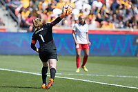 Sandy, UT - Saturday April 14, 2018: Alyssa Naeher during a regular season National Women's Soccer League (NWSL) match between the Utah Royals FC and the Chicago Red Stars at Rio Tinto Stadium.