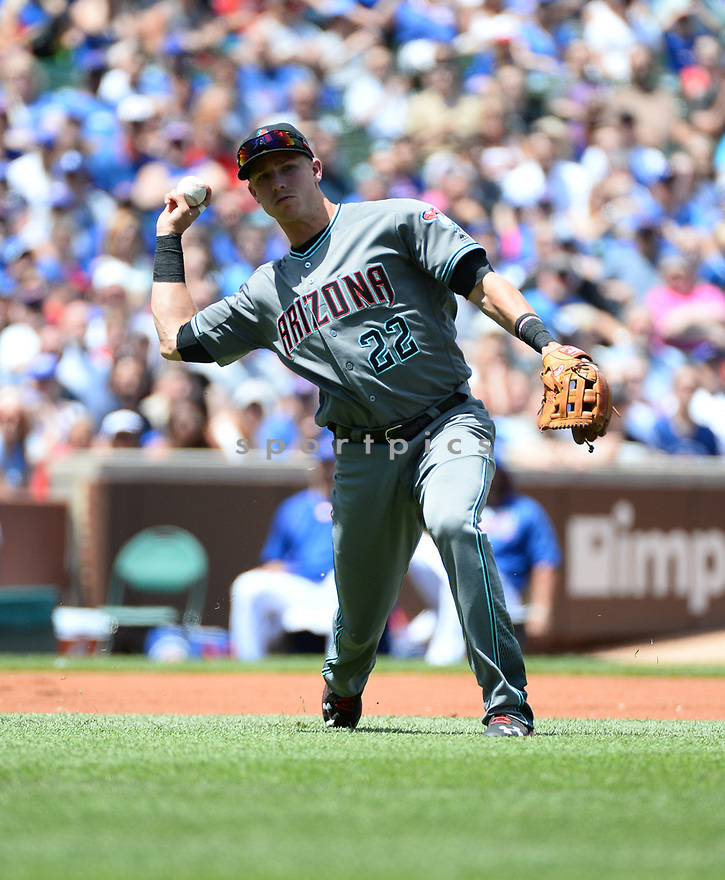 Arizona Diamondbacks Jake Lamb (22) during a game against the Chicago Cubs on June 5, 2016 at Wrigley Field in Chicago, IL. The Diamondbacks beat the Cubs 3-2.