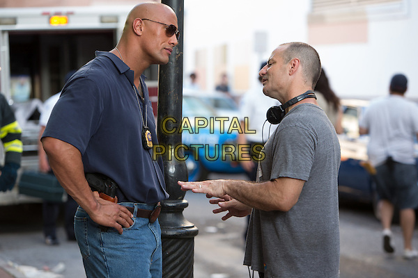 Dwayne &quot;The Rock&quot; Johnson &amp; Dito Montiel (Director)<br /> on the set of Empire State (2013) <br /> *Filmstill - Editorial Use Only*<br /> CAP/FB<br /> Image supplied by Capital Pictures