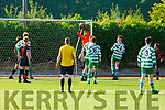 Park FC keeper Conor Hayes catches an inbound attack from Killarney Celtic in the Youths Cup Final.