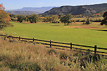 Farmland and pasture near the Sneffels Range, Colorado. John offers autumn photo tours throughout Colorado.