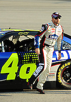 May 1, 2009; Richmond, VA, USA; NASCAR Sprint Cup Series driver Jimmie Johnson during qualifying for the Russ Friedman 400 at the Richmond International Raceway. Mandatory Credit: Mark J. Rebilas-
