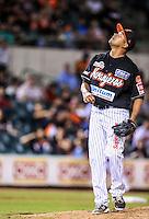 Raul Baron pitcher de Naranjeros, durante partido3 de beisbol entre Naranjeros de Hermosillo vs Mayos de Navojoa. Temporada 2016 2017 de la Liga Mexicana del Pacifico.<br /> © Foto: LuisGutierrez/NORTEPHOTO.COM