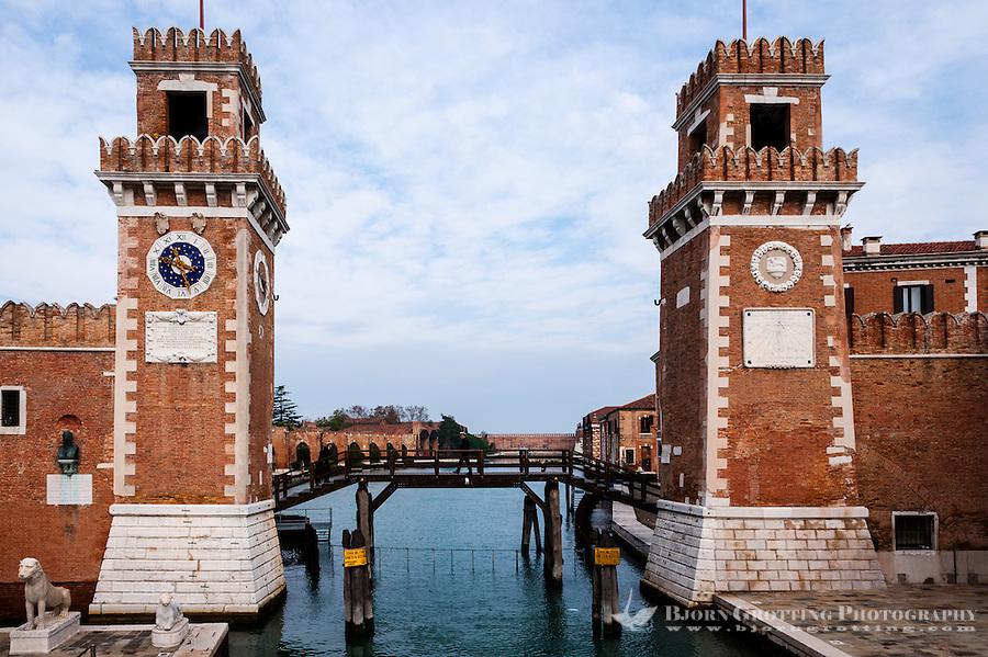 Italy, Venice. Arsenale di Venezia. The main gate, Porta Magna.