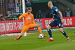 15.04.2019, RheinEnergieStadion, Koeln, GER, 2. FBL, 1.FC Koeln vs. Hamburger SV ,<br />  <br /> DFL regulations prohibit any use of photographs as image sequences and/or quasi-video<br /> <br /> im Bild / picture shows: <br /> Julian Pollersbeck (HSV #1), haelt eine Flanke von Florian Kainz (FC Koeln #30), <br /> <br /> Foto &copy; nordphoto / Meuter
