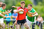 Stephen O'Mahony Mitchells in action against Tommy Cahill Glenbeigh in Division 2 of the County League at Ballyseedy on Sunday.