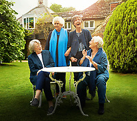 Tea with the Dames (2018) <br /> Nothing Like a Dame (original title)<br /> Promotional art with Judi Dench, Maggie Smith, Eileen Atkins &amp; Joan Plowright.<br /> *Filmstill - Editorial Use Only*<br /> CAP/RFS<br /> Image supplied by Capital Pictures